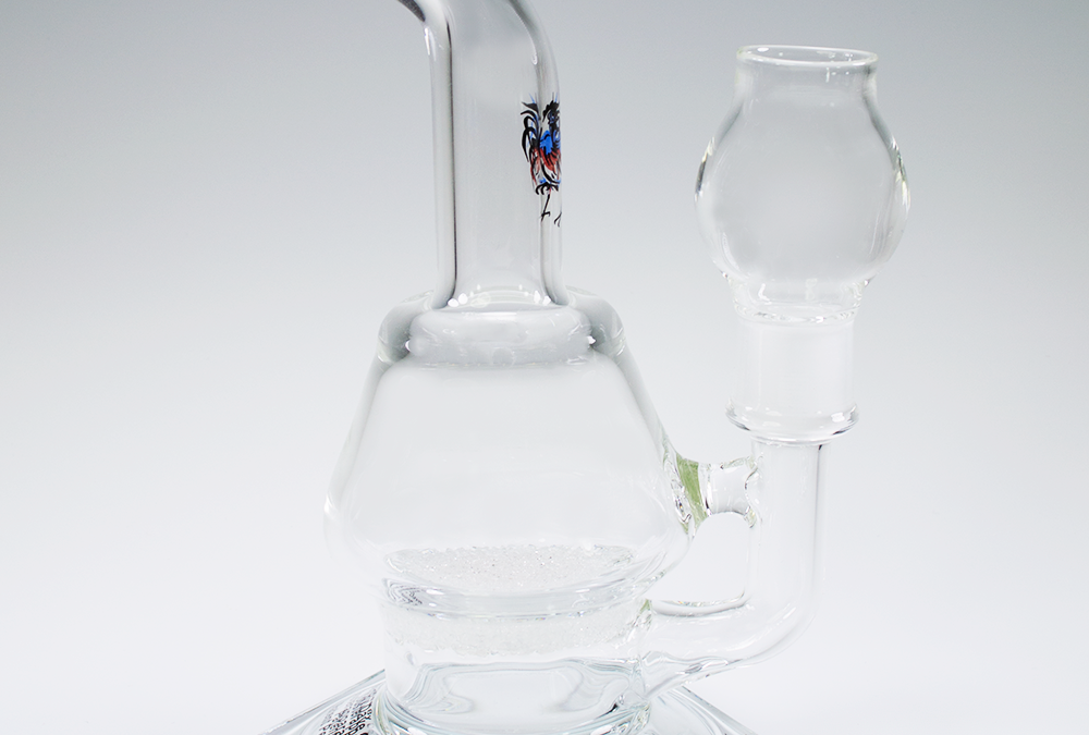 Rooster apparatus fritted disc vapor bubbler